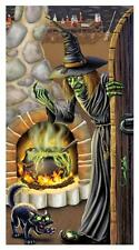 WICKED GREEN WITCH'S BREW DOOR COVER HALLOWEEN PARTY DECORATION BG00023
