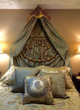 Gorgeous Gold Tone Bed Crown - Real Wood - Canopy - Teester