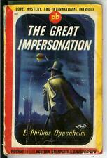 THE GREAT IMPERSONATION by EP Oppenheim, rare US Pocket crime pulp vintage pb