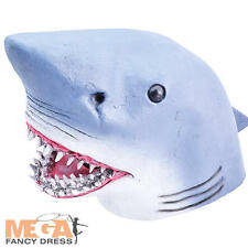 Shark Head Mask Adults Fancy Dress Sea Animal Mens Ladies Costume Accessory New