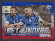 Panini Prizm World Cup 2014 - Net Finders # 13 Kostas Mitroglou - Red Blue Wave