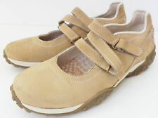 TIMBERLAND LIGHT TAN NUBUCK LEATHER LOW HEEL MARY JANE CASUAL SHOE SZ 8M