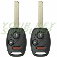 2 Pack Honda Civic Odyssey Remote Key Fob Combo Brand New Clicker