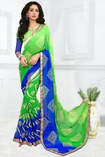 Stylist Multi Color weight less Chiffon Georgette printed Saree D.PS2006