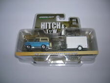 Greenlight 1967 Ford Bronco + Small Cargo Trailer Auto Anhänger Hitch&Tow 1:64