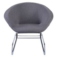 Modern Gray Accent Chair Leisure Arm Sofa Lounge Living Room Home Furniture New