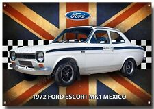 FORD ESCORT MK1 MEXICO METAL SIGN,CLASSIC FORD CARS,1970'S CARS.ICONIC CARS A3