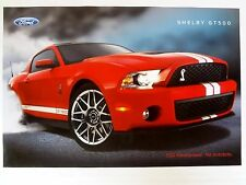 Shelby Mustang GT500 550 HP Ford Dealer advertising Promo Poster Showroom GT 500