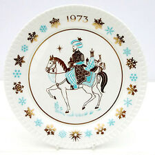 VINTAGE SPODE Christmas Carol Collector Plate BONE CHINA NOI TRE RE 1973