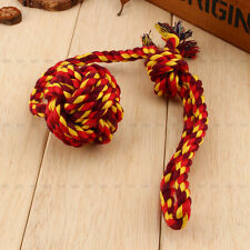 Pet Dog Chew Play Toy Braided Cotton Rope Knots For Cleaning Teeth Hot Sale