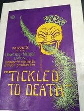 University Of Michigan Mimes Tickled To Death Theatre Playbill Art Deco UOM