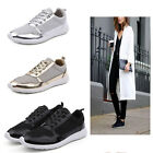 New Womens Ladies Fashion Breathable Glitter Trainer Shoes Mesh Casual Sneakers
