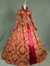 Victorian Tudor Jacquard Period Dress Gown Reenactment Theater Costume 162 XXL