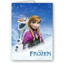 Disney Frozen Anna & Olaf, A5 Birthday, Christmas Card