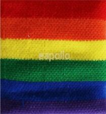 Unisex Gay Rainbow Stripe Sweatband Wristband - Brand New