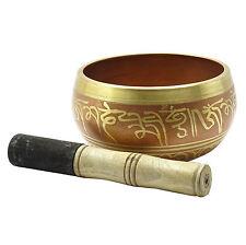 OM Mani Padme Hum Chakra tibétain bol prière bol chantant avec Mallet MF2452A