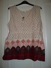 Womens M&Co tribal print tie back top blouse size 16 UK 44 Eur new RRP £20