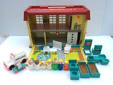 Vintage Fisher Price Little People Play Family Childrens Hospital 931 Complete