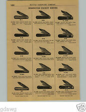 1924 PAPER AD 13 PG Remington Pocket Knife Knives Office Ladies' Boot Leg Pearl