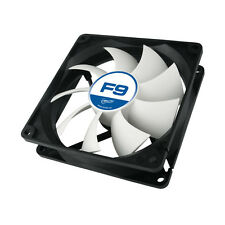 Arctic F9 92mm 3 Pin PC Case Fan - Rev 2 - Silent, High performance 6Yr Warranty