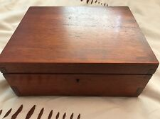 Vintage Wooden Jewelery/Watch Box Lockable With Removable Section & Hat Pins