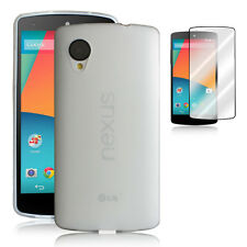 TPU soft Cover Case Skin+1x Clear Screen Protector for LG Google Nexus5 CLEAR