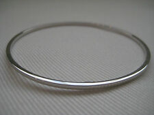 9ct oro bianco super value 2mm classic bracciale da schiava