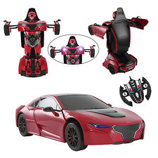 2.4G Radio Remote Control Transformer Kids Children Toy Car Rotatable Robot NEW