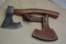 Custom Made Hand Forged Damascus Steel Hunting axe V1171 with olive wood Handle