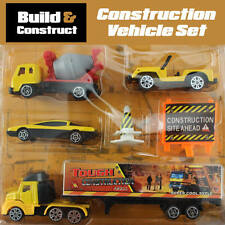 MINI CONSTRUCTION VEHICLES BUILDER CAR PLAY SET KIDS CHILDREN 7 PIECES TOY