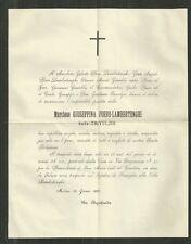 Milano Necrologio della Marchesa Giuseppina Porro Lambertengo Trivulzio 1880