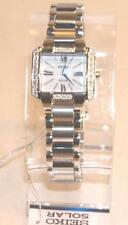 "New Seiko Women's SUP237 ""Tressia"" Diamond-Accented Stainless Steel Solar Watch"