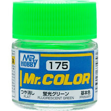 GSI CREOS GUNZE MR HOBBY Color C175 Fluorescent Green LACQUER PAINT 10ml MODEL