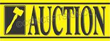 4'X10' AUCTION BANNER Outdoor Sign XL Auto Storage Agriculture Equipment Sales