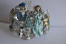 KIRKS FOLLY  CHRISTMAS NUTCRACKER CUFF  IN SILVER TONE LAST BRACELET
