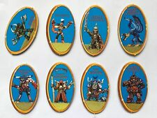 OOP Advanced Heroquest Full set of 6 Blue Monster Character Chits Hero Quest