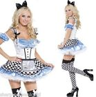 Adult Ladies Sexy Sweet Alice in Wonderland Book Day Fancy Dress Costume Outfit
