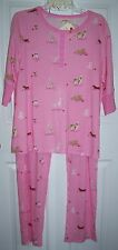 Munki Munki 2pc Pajama Set Pajamas Wiener Dogs Dachshund Bulldog L Cotton Knit