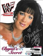 Chyna Signed WWE August 2000 WWF Magazine PSA/DNA COA DX Diva Photo Autograph 00