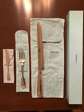 TIFFANY & CO. ASSORTED SHELL & THREAD STERLING SILVER FLATWARE UNUSED