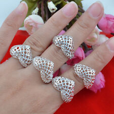 5pcs wholesale Jewelry Fashion 925 silver Mixed size rings for women N-76