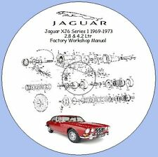 JAGUAR xj6 SERIE 1 1969-1973 2.8 LITRI e 4.2 Litri Officina Workshop Manuale