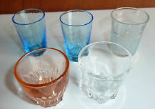 Lot de 5 ancien verres à liqueur d'un ancien bistrot vintage french antique
