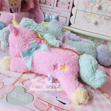 Japanese Harajuku Preppy Style Sweet Lolita Unicorn Plush Satchel Handbags Purse