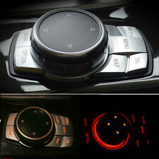 Interior Multi-Media Button Cover Trim Lid 5x For BMW X5 F15 X6 F16 E70 E71 E72