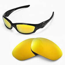 New WL Polarized 24K Golden Lenses For Oakley New Straight Jacket (After 2007)