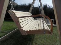 NEU Hollywoodschaukel aus Holz Gartenmöbel Gartenbank Schaukel Gartenschaukel