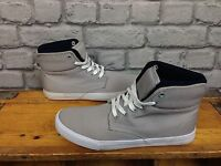 SONNETI MENS UK 6 GREY CANVAS MAC DOUBLE COLLAR TRAINERS RRP £30