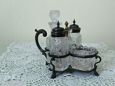 ANTIQUE CRUET SET HENRY WILKINSON & CO. WITH MAKERS MARKS