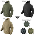 Condor 605 Tactical Military Hunting Sierra Hooded  Fleece Jacket with Patch